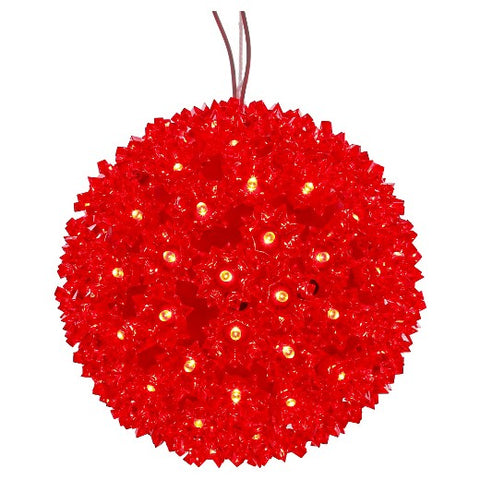 LED Starlight Sphere - 10 Inch - 150 Count - Red