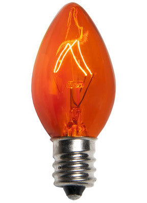 C7 Christmas Lights - Amber - 25 Pack