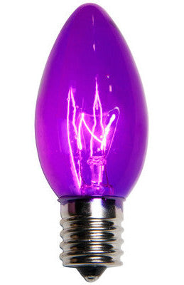 C9 Christmas Lights - Purple - 25 Pack