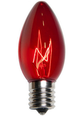 C9 Christmas Lights - Red - 25 Pack