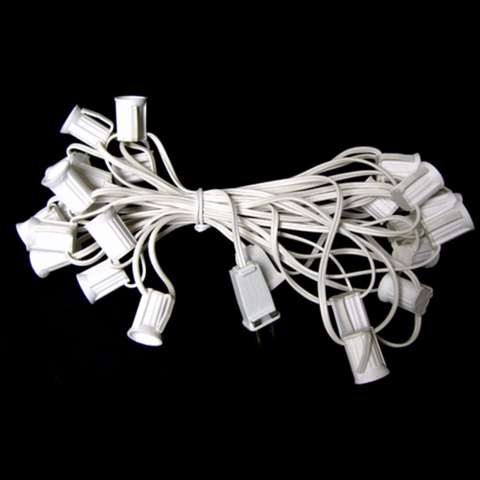 25' C9 Christmas Light String - White Wire | All American Christmas Co