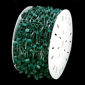 "1000' C9 Christmas Light Spool - 12"" spacing - Green Wire - SPT-2 