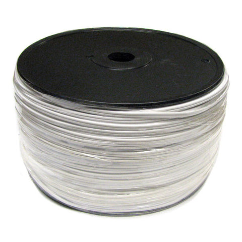 1000' Bulk Wire Spool - White Wire - SPT-2 | All American Christmas Co