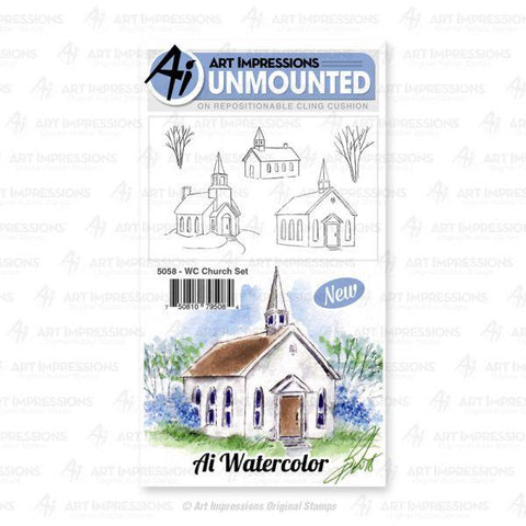 Watercolor Stamps - Church Set