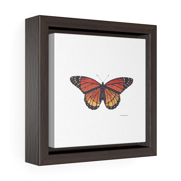 Canvas Wall Print - Monarch Butterfly - Square Framed Premium Gallery Wrap Canvas - Falling Leaf Card Co.