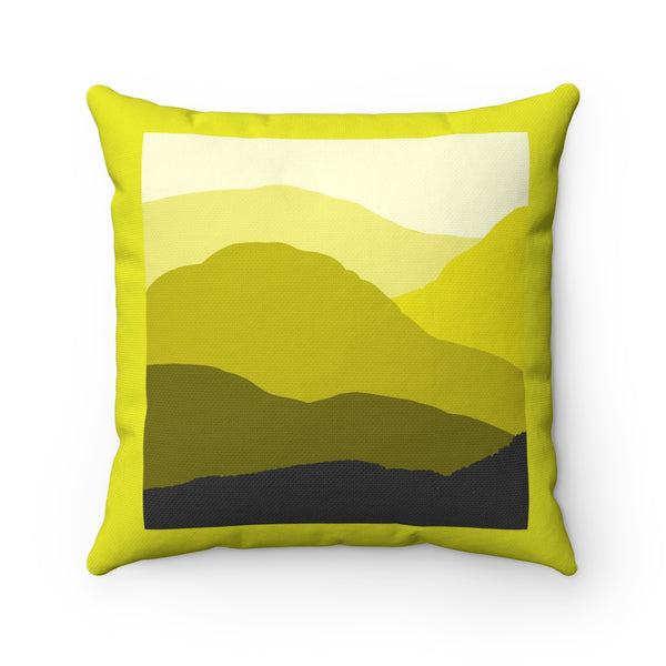 Pillow - Yellow-  Spun Polyester Square - Falling Leaf Card Co.