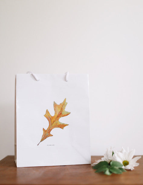 Oak Leaf Gift Bag - Falling Leaf Card Co.