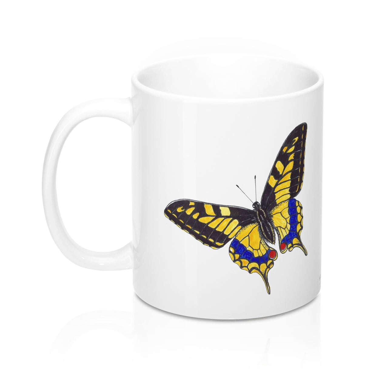 Coffee Mug - Yellow Butterfly - Falling Leaf Card Co.