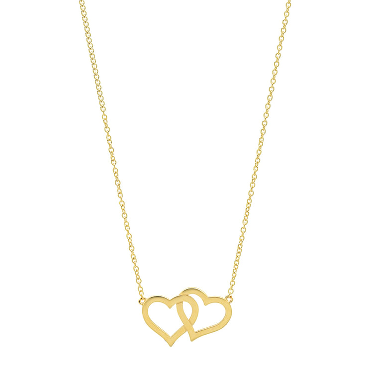 Interlocking Open Heart Necklace