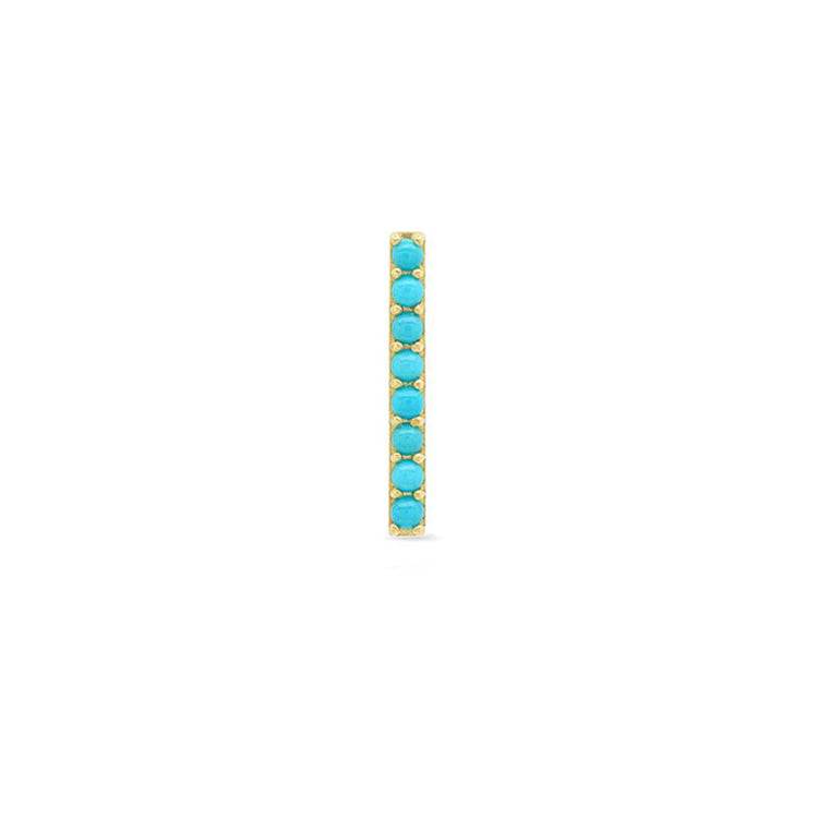 Half Pair Turquoise Long Bar Studs