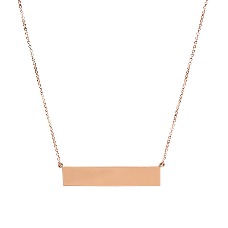 Custom Rose Gold Nameplate Necklace
