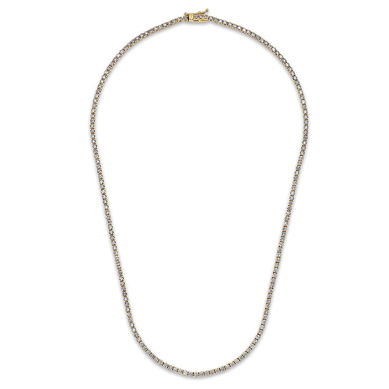 Diamond 4 Prong Tennis Necklace
