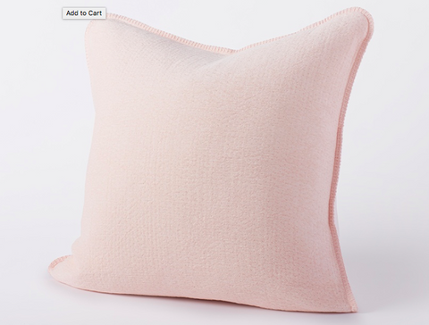 Coyuchi Cozy Cotton Pillow, Blush