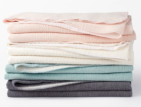 Coyuchi Cozy Cotton Blankets, 4 colors