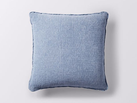 Coyuchi Cozy Cotton Pillow, Riverstone