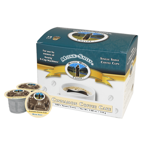 Cinnamon Coffee Cake 10ct., Monk-Shots - Mystic Monk Coffee