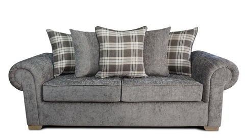 Angelica 3 Seater Pillow Back Sofa Bed Sofa Beds- KC Sofas