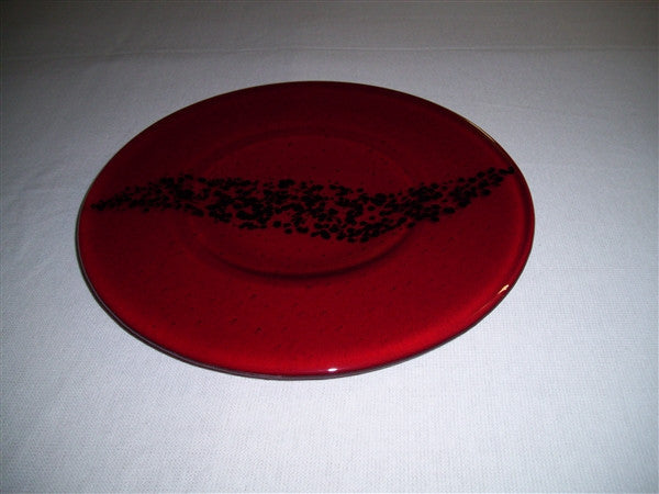 Round Plate - Breeze - Red Ink