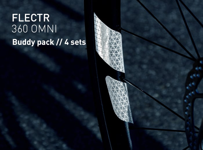 FLECTR 360 rim reflector buddy pack // 4 sets
