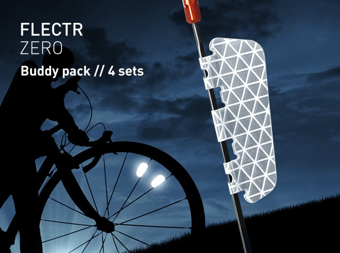 FLECTR ZERO buddy pack wheel reflector // 4 sets