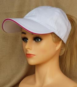 White Baseball Cap With Embroidery