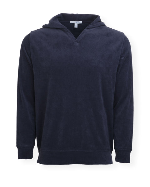 The McQueen Terry Cloth Hoodie - Darkest Indigo