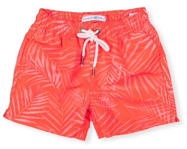 Boys Classic Swim Trunk X-Ray Palms - Red