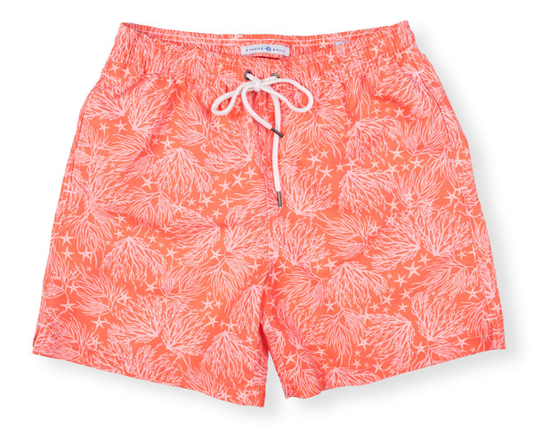 Classic Swim Trunk Coral - Day Lily