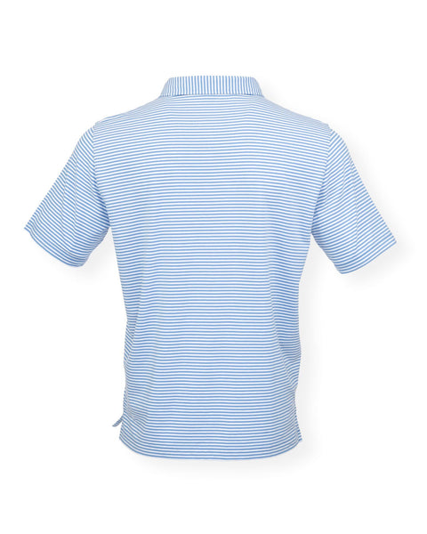 The Classic Stripe Polo - Delphinium/White