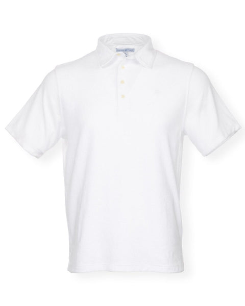The Ace Terry Cloth Polo - White