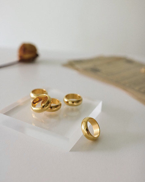 Classic chunky gold bands - Rings by THEHEXAD