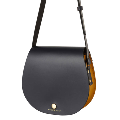 Etter Saddlebag | Navy Blue & Sun Yellow