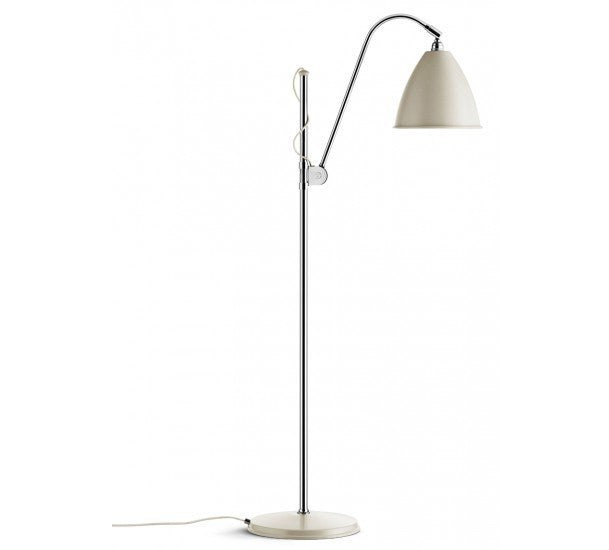 GUBI-BESTLITE-BL3M-GULVLAMPE - chrome & off-white