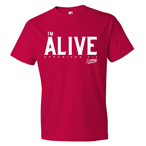 Red I'm Alive T-shirt