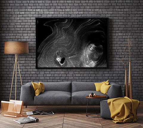 Ghost in the Machine by Jules Tillman - dramatic black and white art for the modern home