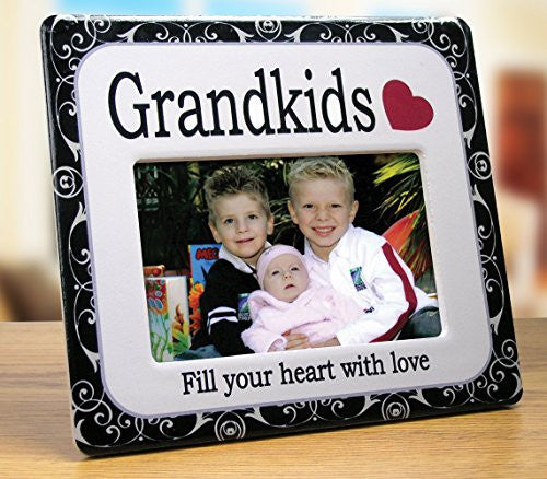 Grandkids Picture Frame - Decorative Frame that Highlights Your Grandkids