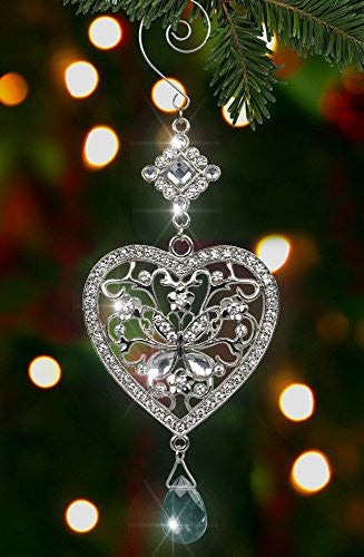 Heart and Butterfly Hanging Ornament