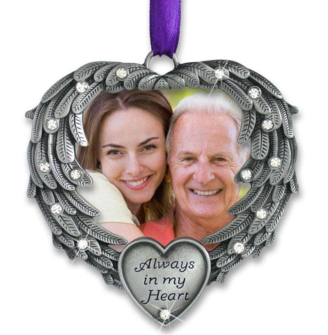 Memorial Photo Ornament - Always in my Heart