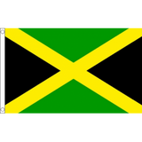 Jamacia National Flag - Budget 5 x 3 feet Flags - United Flags And Flagstaffs