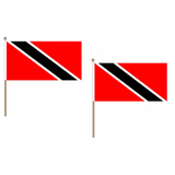 Trinidad and Tobago Fabric National Hand Waving Flag