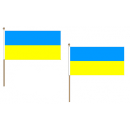 Ukraine Fabric National Hand Waving Flag