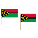 Vanuatu Fabric National Hand Waving Flag