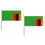 Zambia Fabric National Hand Waving Flag