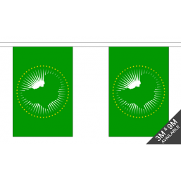 African Union Flag  - Fabric Bunting Flags - United Flags And Flagstaffs