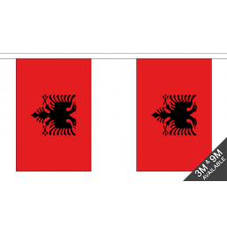 Albania Flag  - Fabric Bunting Flags - United Flags And Flagstaffs