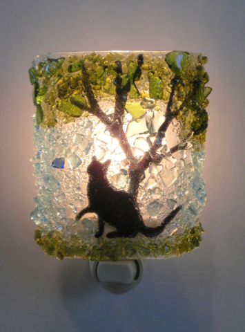 Night Light - Cat Chasing Butterfly