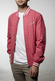 Barcelona Bomber Jacket - Faded Red