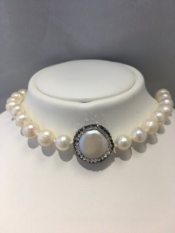 Freshwater Pearl Short Choker Style Necklace