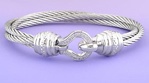 Double Stainless Steel Bangle