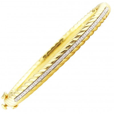 Steel Diamond Bangle